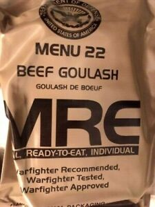 Orig. MRE US Army Menue 22  *Beef Goulash*  Meal ready to eat