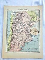 circa 1880s map of argentine republic ( adam & charles black )