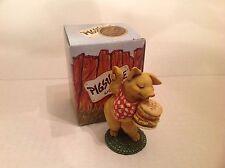 Ganz Pigsville Figurine Snack Time 1993 NIB