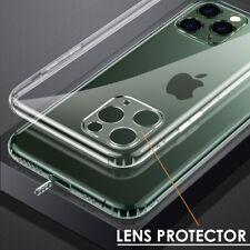 Caso claro para iPhone 11 Pro Max Con Protector De Lente Cubierta de silicona a prueba de choques