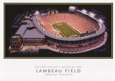 "Green Bay Packers Lambeau Field Poster First Kick-Off August 23, 2003 25""x18"""