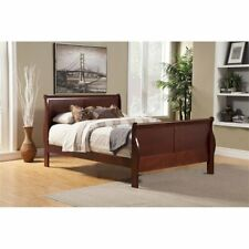 Alpine Furniture Louis Philippe II Full Size Sleigh Bed in Cherry