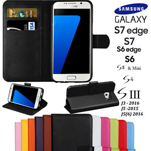 HIGH QUALITY Leather Flip Wallet Case Cover For Samsung Galaxy S4 S5 S6 S7 EDGE