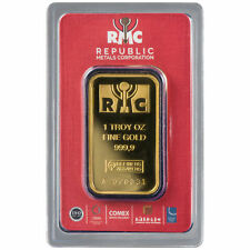 ON SALE! 1 oz RMC Gold Bar (New w/ Assay)
