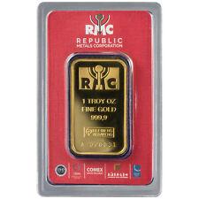 ON SALE! 1 oz RMC Gold Bar (New w/ Assay)