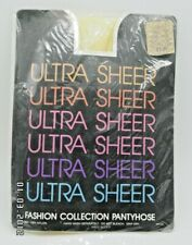 Nos Ultra Sheer Fashion Collection #2150 Yellow pantyhose one size 100-160Lbs