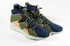 NEW Puma IGNITE Wave evoKNIT Training Shoes Navy Blue Green Cork Mens Size