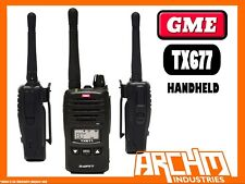 GME TX677 2 WATT UHF CB HANDHELD RADIO - 80 CHANNELS 121 dBm COMPACT LIGHTWEIGHT