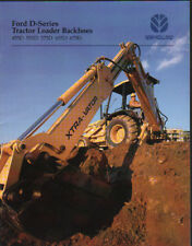 "Ford ""D-Series"" Tractor Loader Backhoe Brochure Leaflet"