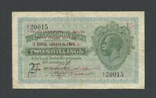 More details for malta  1 sh 1940 ovpt kgv  krause 15  vg-fine banknotes