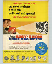 1967 PAPER AD Kenner's Toy 2 Sided Easy Show Movie Projector Captain America ++