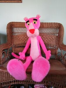 """HUGE Vtg 1980's Poseable PINK PANTHER Plush Toy MIGHTY STAR 44"""" Prop"""