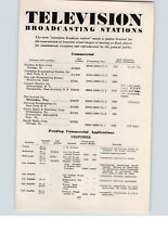 1945 Movies Article 9 Pg Television Broadcasting Stations State Drive-In Theater