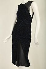Vintage Gianni Versace Couture Tweed Dress W Chiffon Sleeves