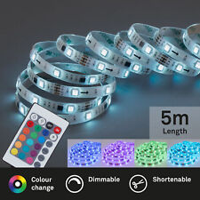 LED Band 5m RGB Fernbedienung selbstklebend 24W Kunststoff Briloner Leuchten