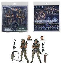 """NECA Aliens 7"""" escala Hicks Y Hudson colonial marines 2-Pack 30TH aniversario"""