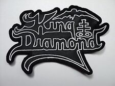 KING DIAMOND WHITE SHAPED LOGO    EMBROIDERED PATCH