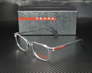 PRADA LINEA ROSSA PS 04IV 2AZ1O1 Transparent Demo Lens Men's Eyeglasses