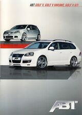 Volkswagen Golf Mk5 ABT Tuning 2009 Sales Brochure In English Hatch GTi Variant