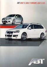 Volkswagen Golf Mk5 ABT Tuning 2009 Sales Brochure In English Hatch GTi Variant
