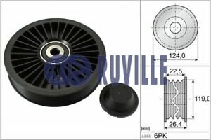 Ruville Drive Belt Idler Pulley 55546 fits Volvo XC90 I 275 2.5 T AWD T6 AWD