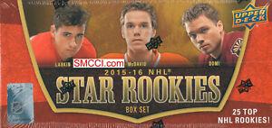 STAR ROOKIES 2015 2016 Upper Deck Sealed 25 Card Box Set Connor McDavid Eichel