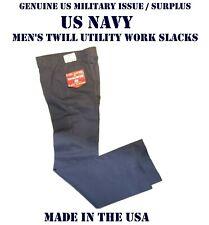 US NAVY TROUSERS MEN'S 30R x 30 BLUE UTILITY WORK DUTY UNIFORM PANTS BOTTOM USN