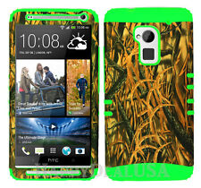 KoolKase Hybrid Silicone Cover Case for HTC One Max T6 - Shedder Grass Camo 11