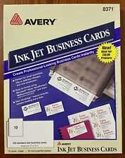 Avery Business Cards 250 20 27 Sheets Cards 2x35 White Inkjet Kit 8371