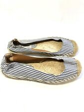 Steve Madden Striped Espadrille Shoes Blue White Sz 8