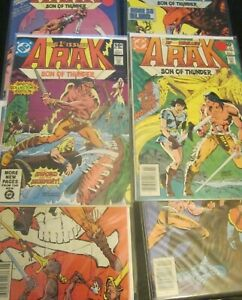 Arak Son Of Thunder Lot Of 6 Comics (DC COMICS) #1, 3-4, 9, 19, 22
