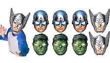 NEW Avengers Assemble Paper Masks Birthday Favors Kids' Party Supplies Decor 8ct