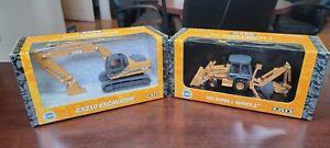 Case CX210 Excavator & 590 Super L Series 2 1:50 Scale ERTL Replica Die-cast