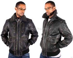 Aviatrix Men's Leather Jacket, Vintage Heavy Bomber Biker Style, Flying, Pilot