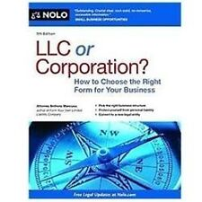 LLC or Corporation?: How to Choose the Right Form for Your Business-ExLibrary
