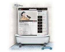 Online Video BathTub Duschvorhang
