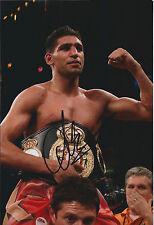 Amir KHAN Signed 12x8 Autograph Photo AFTAL COA World Champion Boxer Authentic