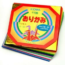"Japanese Koma Origami Folding Paper 3"" (7.5cm) Mini Assorted Colors 110 Sheets"