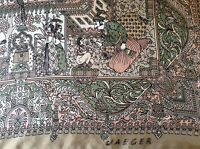 VINTAGE JAEGER HAND ROLLED SILK SCARF.  VGC.  34 x 33 INCHES.  BEAUTIFUL!