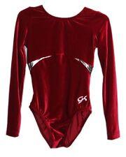GK Elite Gymnastics Leotard - Red Velvet - AL Adult Large 2781