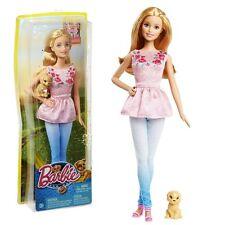 Barbie - Familie Puppe Barbie mit Hund - Das große Hundeabenteuer