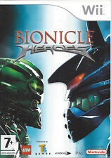 BIONICLE HEROES for Nintendo Wii - with box & manual - PAL