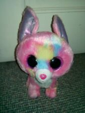 "Ty Pink and Light Blue Spots Soft Plush 6"" Toy Dog"