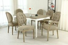 Oak Living Room 7 Pieces Table & Chair Sets