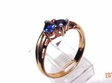 Genuine Sapphire Solid 14 kt Gold Ring, Free Shipping(#1775)