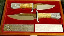 The American Frontiersman Commemorative Knife collection w/ display case 1972 S