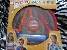 BONTEMPI MUSICAL BAND TOY DRUM CASTANETS HARMONICA TRUMPET MARACAS AGE 3+ BNIB