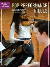 Pop Performance Pieces Violin Piano Learn Play Rock Chart Hits Fiddle MUSIC BOOK