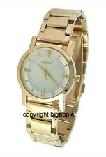 NEW DKNY MOTHER OF PEARL GOLD TONE LADIES WATCH NY4520