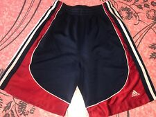 ADIDAS ~ Boy's Youth Navy Blue Red Mesh Athletic Soccer Basketball Shorts ~ XL